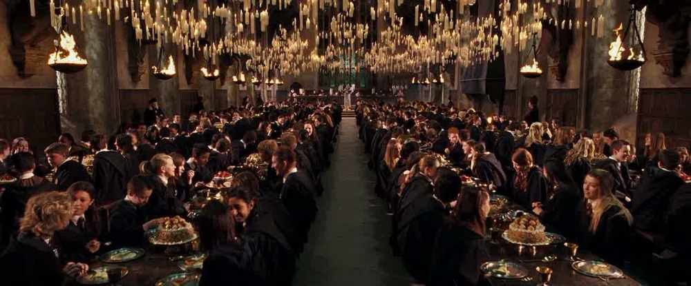 Picture borrowed from: http://images.wikia.com/harrypotter/images/b/ba/1995_Welcoming_feast_1.jpg Copyright remains that of the original owner.