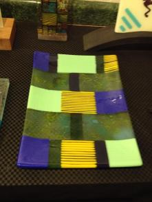 Fused Glass Art by Jan Dean of Jewett Picture courtesy of Healthy Rhythm Community Art Gallery