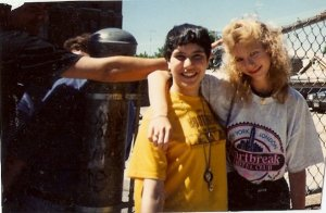 This is me when I was around 16 years old with my friend, Dawn.