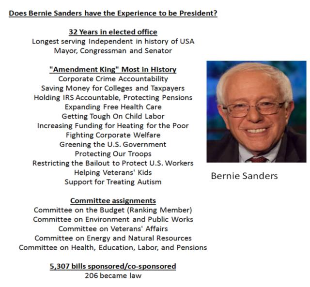 Bernie Experience